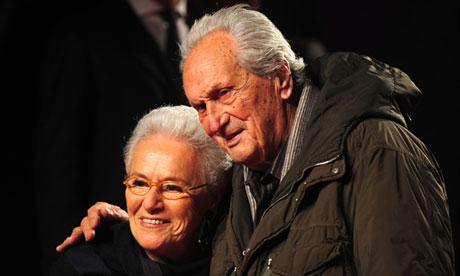 Rosita and Ottavio Missoni in Milan.