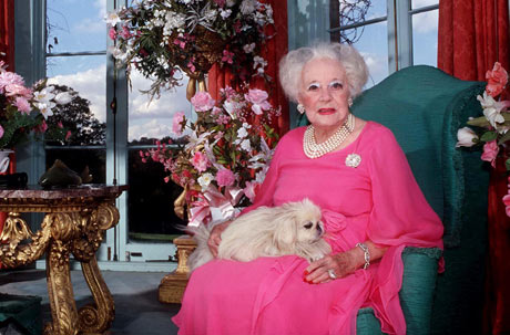 Dame Barbara Cartland in 1997