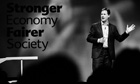 Liberal Democrat leader Nick Clegg speaks during a rally at the end of the first day of conference
