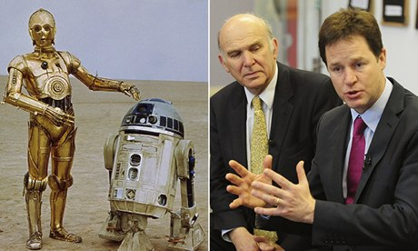 C3PO, R2D2, Vince Cable, Nick Clegg