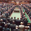 Three minute silence at the House of Commons