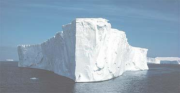 A massive tabular iceberg adrift in the Weddell Sea off the Antarctic peninsula