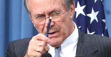 US Secretary of Defence, Donald Rumsfeld