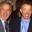 George Bush and Tony Blair