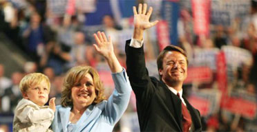 John Edwards and family at the Democratic convention in Boston