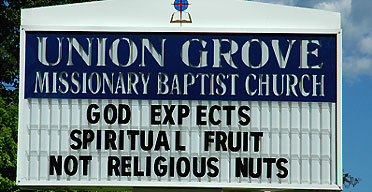 A church sign in America's south