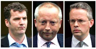 Gary Mulgrew, Giles Darby, and David Bermingham (L-R): Former NatWest bankers to be extradited in Enron case