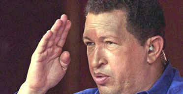 The Venezuelan president, Hugo Chavez. Photograph: Marcelo Garcia/AFP/Getty Images