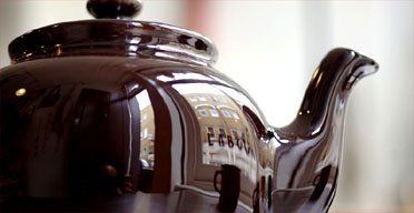 A traditional brown teapot from the Labour and Wait home goods shop in London. Photograph: David Levene