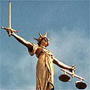 The Scales of Justice on the Central Criminal Court at the Old Bailey in London