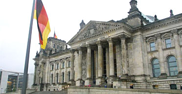 The Reichstag in Berlin. Photograph: David Sillitoe