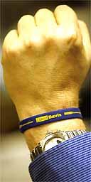 A David Davis wristband