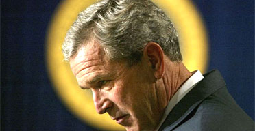 George Bush believes he is on a mission from God, according to the politician Nabil Shaath. Photograph: Charles Dharapak/AP