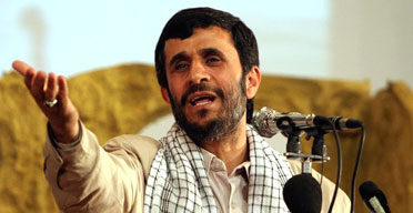 The Iranian president, Mahmoud Ahmadinejad. Photograph: Vahid Salemi/AP