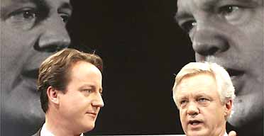 The Tory leadership contenders, David Cameron and David Davis, go head to head on Sky News