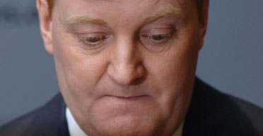 Charles Kennedy announces  his resignation as Liberal Democrat leader. Photograph: Fiona Hanson/PA