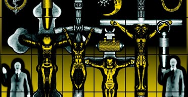 Detail from Son of a God 2005 by Gilbert and George