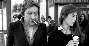 Serge Gainsbourg and Jane Berkin shopping in Avoriaz on January 24 1977. Photograph: AFP