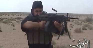Image grab from al-Jazeera of a man said to be Abu Musab al-Zarqawi