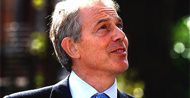 Tony Blair on a visit to York