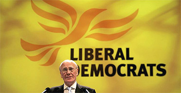 Menzies Campbell at the Lib Dem party conference