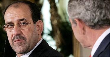 Nouri al-Maliki and George Bush