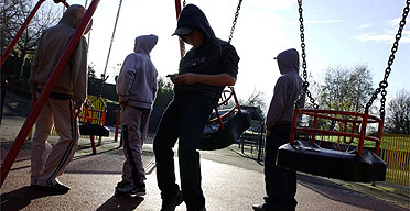 Teenagers in a playground