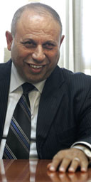 Israel's newly-appointed science and technology minister, Raleb Majadele – the country's first Arab member of cabinet
