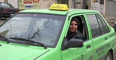 Iranian taxi driver Marzieh Khatoon Shariati