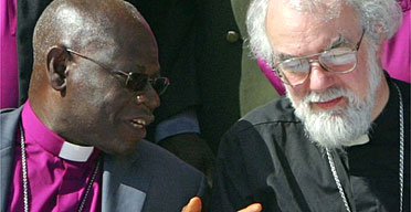 The archbishop of Canterbury, Rowan Williams, (right) and the Nigerian Anglican archbishop, Peter Akinola