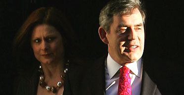 The chancellor Gordon Brown leaving 11 Downing Street with his wife SarahThe chancellor Gordon Brown leaving 11 Downing Street with his wife Sarah