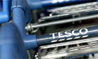 Tesco supermarket trolleys