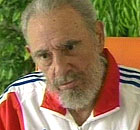 A video-grab of Fidel Castro speaking during his first television interview since emergency surgery forced him to hand over power to his brother last summer