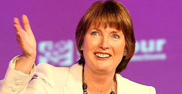 Harriet Harman, unveiled as Labour's new deputy leader after a nailbiting contest.