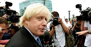 Boris Johnson announcing his intention to stand for London mayor