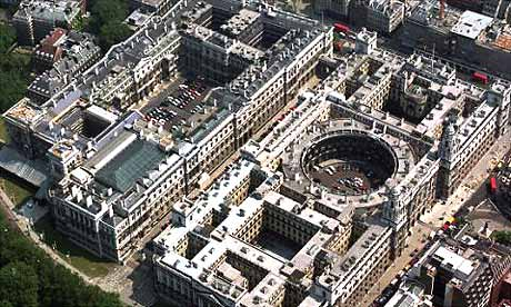 Aerial view of Whitehall