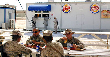 A Burger King in al-Asad air base, 100 miles west of Baghdad