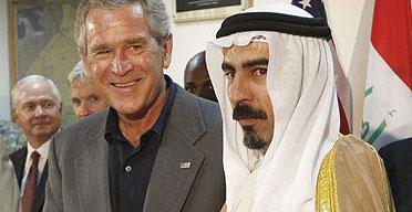 The Iraqi Sunni sheikh Abdul-Sattar Abu Risha met George Bush at in Anbar province on September 3