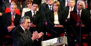 British Prime Minister Gordon Brown addresses the 2007 Labour Party Conference for the first time as party leader.