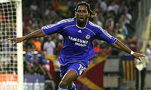 Chelsea's Didier Drogba celebrates