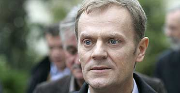 Donald Tusk, the leader of the Polish Civic Platform party