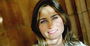 Lauren Bush, niece of President Bush, launches her ethical Feed bag charity in London.