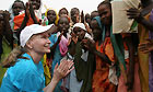 Mia Farrow in Darfur