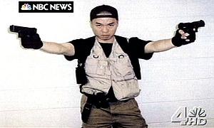 Virginia Tech gunman Cho Seung-Hui in a video package sent to NBC