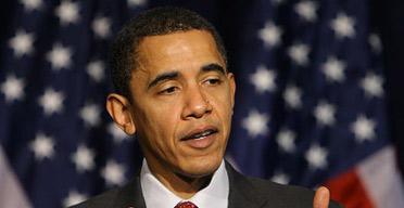Barack Obama talks to media in Los Angeles