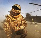 British forces in Afghanistan after landing near Musa Qala in Afghanistan
