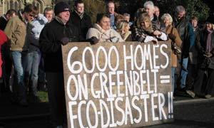 Kingston eco-town protest