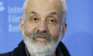 British director Mike Leigh poses during a photo call of his movie 'Happy-Go-Lucky' at the International Film Festival Berlinale in Berlin, Germany