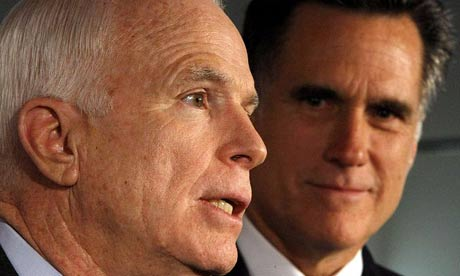 Romney and McCain in Boston