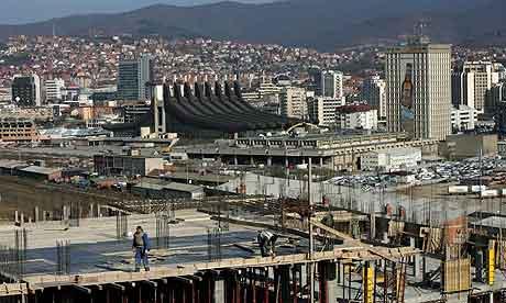 Construction work in Kosovo's capital Pristina